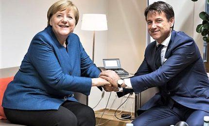 Conte a Merkel: M5s in sofferenza perché loro a 26% e Lega a 35%