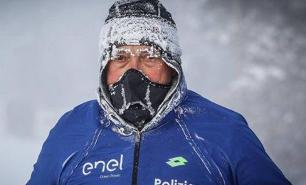 Corre 39 km a -52 gradi, l'impresa dell'italiano Paolo Venturini
