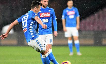 Napoli soffre ma batte Lazio e insegue Juve