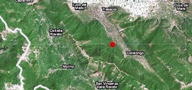 Paura nella Marsica, scossa di terremoto di magnitudo 4.1 nell'Aquilano
