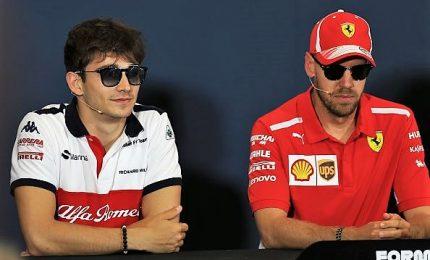 Leclerc subito un lampo, Barcellona è rosso Ferrari