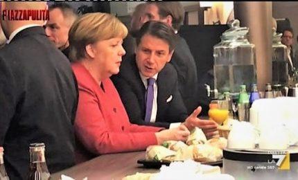 """Fuorionda Conte a Merkel: """"Salvini è contro tutti"""""""