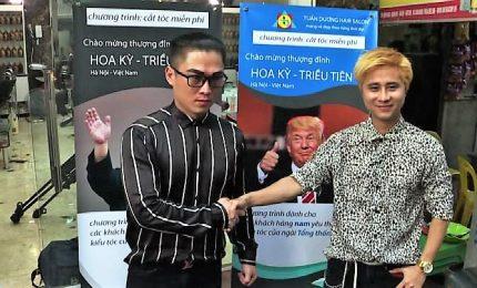 Vietnam, un barbiere di Hanoi offre tagli gratis alla Kim o Trump