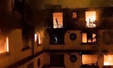 Incendio devasta un palazzo, almeno 10 morti e una trentina di feriti