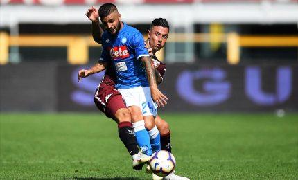 Il Napoli si inceppa, col Toro resta senza gol