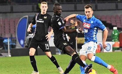 Il Napoli si ritrova, 3-0 alla Sampdoria