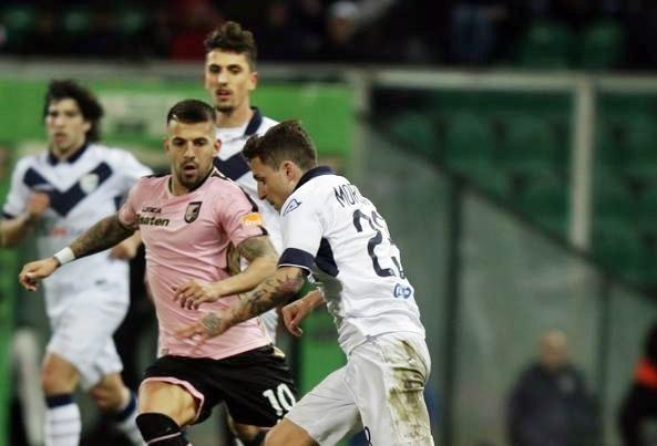 Palermo-Brescia 1-1, nessun cambio al vertice