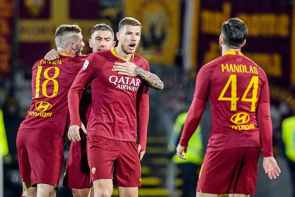 Roma all'ultimo respiro, Dzeko le regala 3 punti