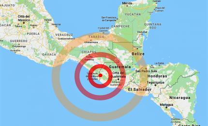 Terremoto di 6.5 Richter al confine guatemalteco