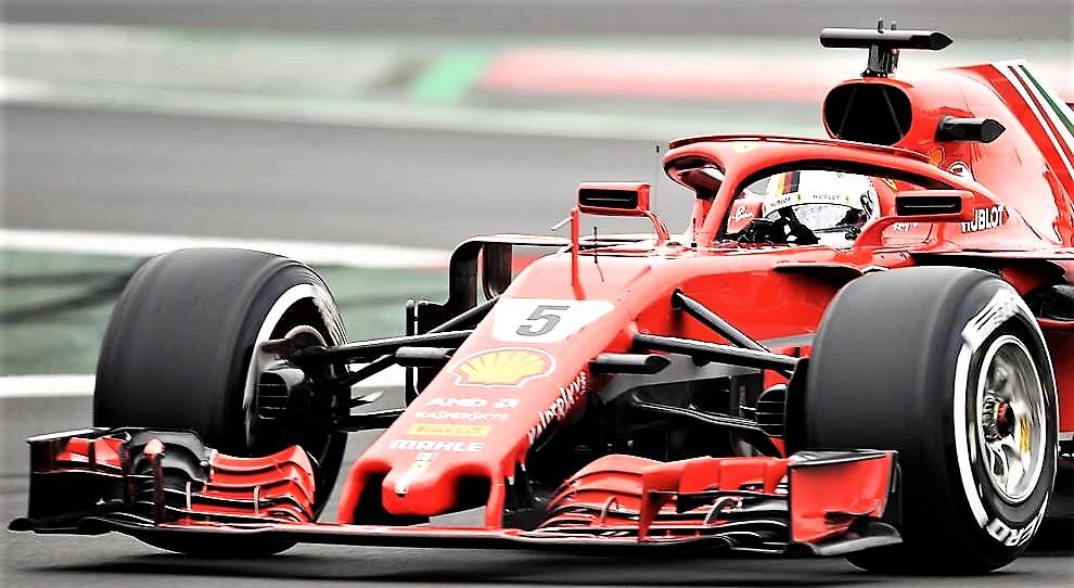 Partenza giusta Ferrari, Vettel il più veloce
