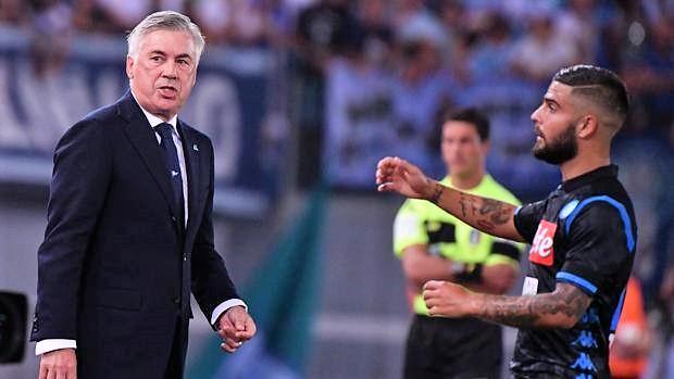 """Ancelotti: """"Lo sfogo di Insigne è comprensibile"""""""