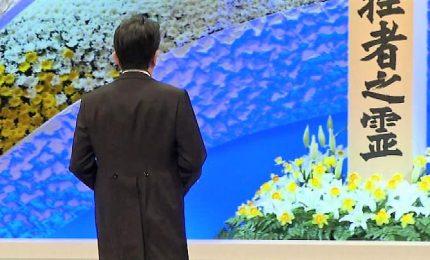 Giappone, l'ottavo anniversario dello tsunami del 2011