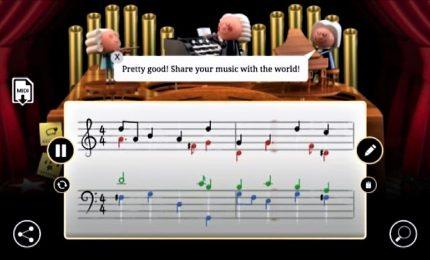 Google e il Doodle per Bach: l'AI compone la tua melodia