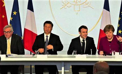 Macron riunisce Xi, Merkel, Juncker: Cina rispetti unità dell'Europa