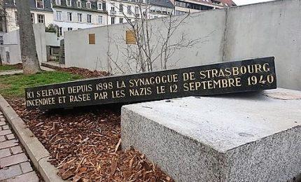 Strasburgo, vandalizzata la stele dell'antica sinagoga