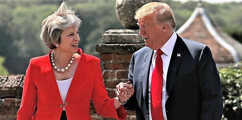 Trump a gamba tesa: futuro accordo con Gb ha potenziale illimitato