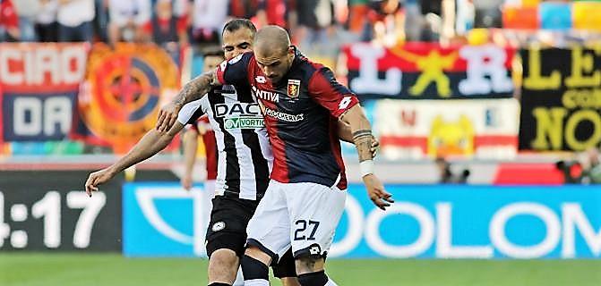 Udinese-Genoa 2-0, passa avanti friulani verso salvezza. Lite in spogliatoio