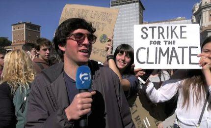 Clima, le voce dei giovani da Roma: vogliamo un pianeta sano