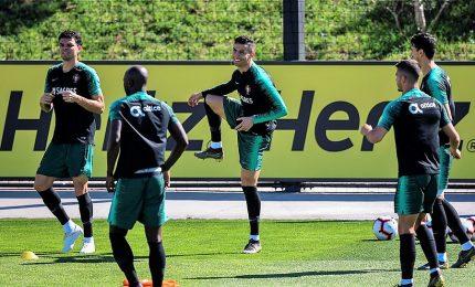 Cristiano Ronaldo torna ad allenarsi col Portogallo