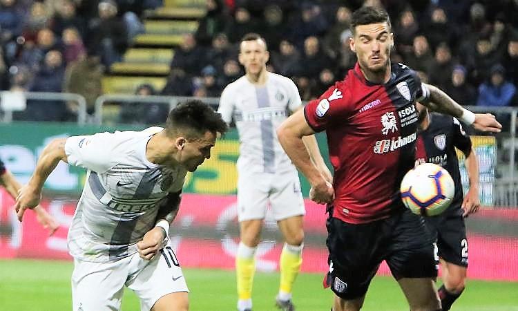 L'Inter cade a Cagliari, terzo posto in bilico