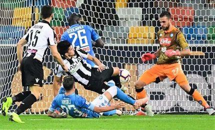 Napoli segna, soffre poi stende l'Udinese