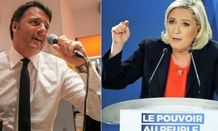 "Renzi contro Le Pen a tv francese: ""Lei non conosce Italia"""