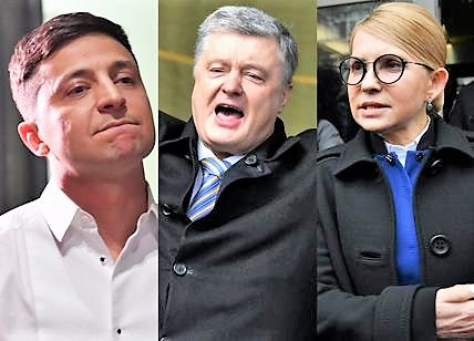 Ucraina al voto, corsa a tre. Zelensky in testa, il comico anti-establishment