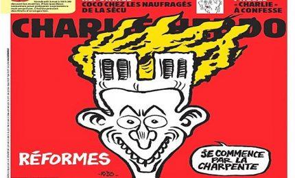 Notre Dame, satira di Charlie Hebdo sull'incendio alla cattedrale