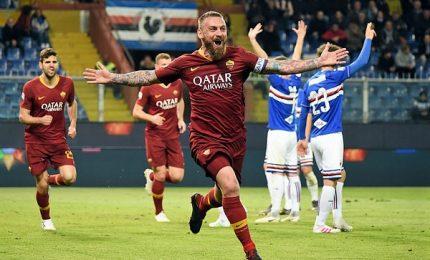 Samp-Roma 0-1, De Rossi rilancia i giallorossi