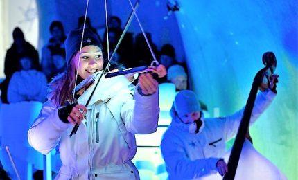 Musica nel ghiaccio, 52 concerti nell'igloo in Val di Sole