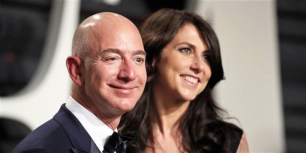 Divorzio Bezos: a lui il 75% di Amazon, a lei 36 miliardi di Usd