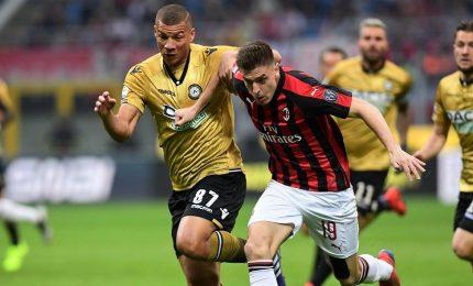 Milan-Udinese 1-1, Piatek non basta a uscire dalla crisi