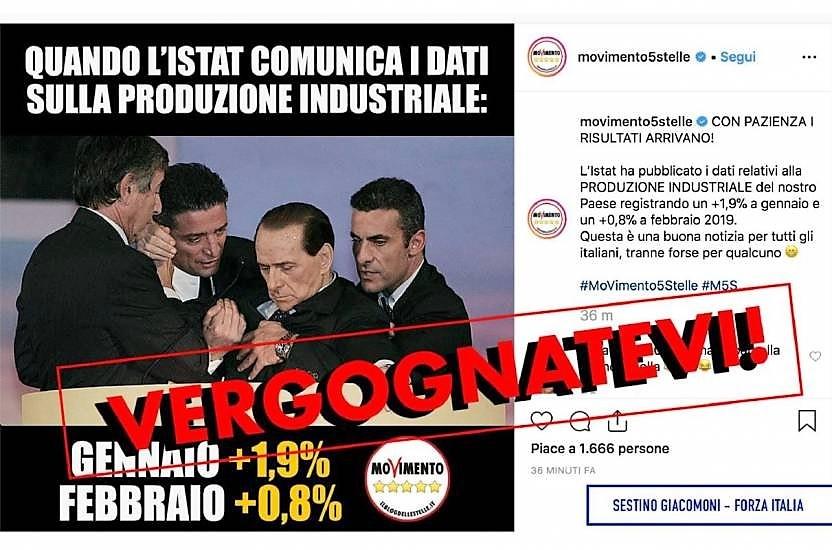 Su social M5s foto malore Berlusconi, indignazione FI