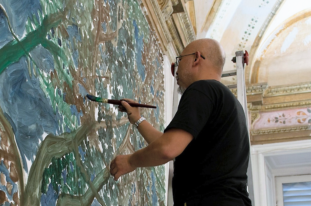 Alla Galleria Borghese di Roma Zhang Enli con Bird Cage
