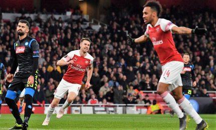 Napoli cade con l'Arsenal, serve impresa
