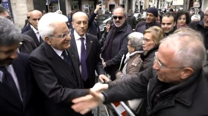 Napoli, il capo dello Stato Mattarella visita il rione Sanità