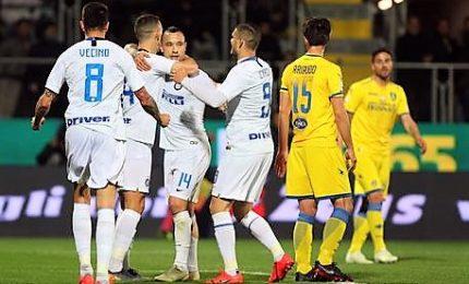Inter, a Frosinone vittoria che sa di Champions