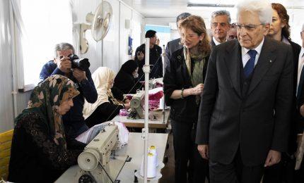 Mattarella in Giordania, visita al campo profughi di Zaatari
