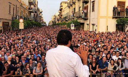 Bagno di folla per la due giorni di Salvini in Sicilia