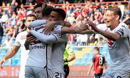 Ansaldi porta il Toro in Europa, Genoa è crisi