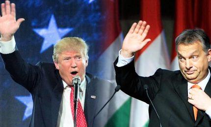 """Trump """"sogna"""" la """"democrazia illiberale"""" di Orban. Premier ungherese alla Casa Bianca"""
