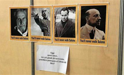 """Salone del libro, foto D'Annunzio e Pound contro la """"censura"""""""