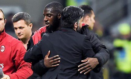 Milan è in corsa Champions, lite Gattuso-Bakayoko