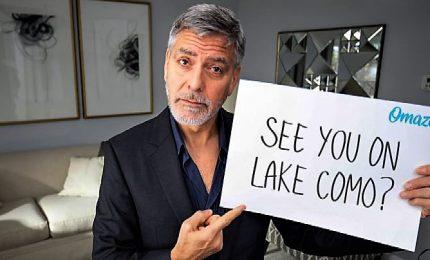 """L'invito di George Clooney: """"Io e Amal vi aspettiamo a Como"""""""