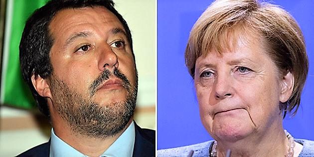 """La Merkel chiude la porta a Salvini: """"Mai nel Ppe"""". Il ministro: """"Noi niente a che fare con lei"""""""