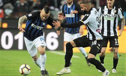 Inter niente fuga Champions, Udinese punto d'oro