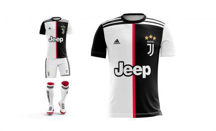 La Juve dice addio alle strisce bianconere nella maglia