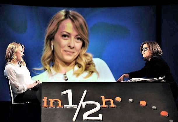 Scontro tra Meloni e  Annunziata in diretta tv
