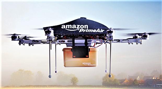 Ecco i droni per le consegne di Amazon, decollano e atterrano come un elicottero