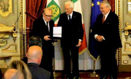 Mattarella premia Ennio Morricone e Ennio Pappano al Quirinale